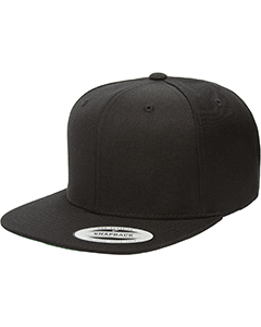 6089 Yupoong Adult 6-Panel Structured Flat Visor Classic Snapback