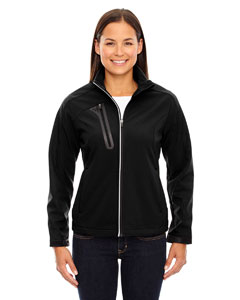 78176 Ash City - North End Ladies' Terrain Colorblock Soft Shell with Embossed Print