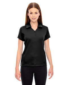 78803 Ash City - North End Ladies' Exhilarate Coffee Charcoal Performance Polo with Back Pocket