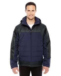 88232 Ash City - North End Men's Excursion Meridian Insulated Jacket with Mélange Print
