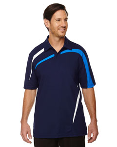 88645 Ash City - North End Men's Impact Performance Polyester Piqué Colorblock Polo