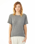 02623B2 Alternative Ladies' Pony Mélange Burnout T-Shirt with Back Strap