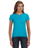 1441 Anvil Ladies' 1x1 Baby Rib Scoop T-Shirt