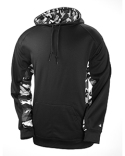 1469 Badger Adult Camo Colorblock Hooded Fleece