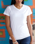 1507 Sublivie Ladies' Polyester V-Neck T-Shirt