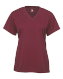 2162 Badger B-Core Girls Performance Solid Color Lap V-Neck Tee