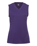 2163 Badger B-Core Girls Performance Solid Color Lap - Neck Sleeveless Tee