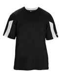 2176 Badger Youth Striker Performance Colorblock Short-Sleeve T-Shirt