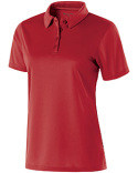 222319 Holloway Ladies Polyester Textured Stripe Shift Polo