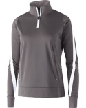 229392 Holloway Ladies' Polyester 1/4 Zip Determination Pullover