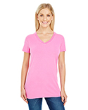 230B Threadfast Apparel Ladies' Pigment-Dye Short-Sleeve V-Neck T-Shirt