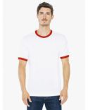 2410W American Apparel Unisex Fine Jersey Ringer T-Shirt