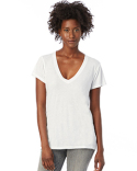 2894B2 Alternative Ladies' Melange Burnout Slinky V-Neck T-Shirt