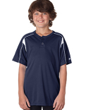 2937 Badger Youth Pro Placket Two-Button Jersey