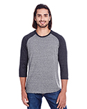 302G Threadfast Apparel Unisex Triblend 3/4-Sleeve Raglan