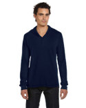 3551 Bella + Canvas Men's Thermal Long-Sleeve Henley Hoodie