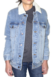 372J Threadfast Apparel Unisex Sherpa-Lined Denim Jacket