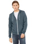 3739 Bella + Canvas Unisex Poly-Cotton Fleece Full-Zip Hoodie