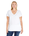 3807 LAT Ladies' Curvy V-Neck Premium Jersey T-Shirt