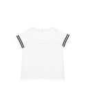 3837 LAT Ladies' Curvy Football Premium Jersey T-Shirt
