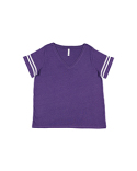 3837 LAT Ladies' Curvy Football T-Shirt