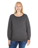 3862 LAT Ladies' Curvy French Terry Pullover