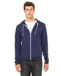 3909 Bella + Canvas Unisex Triblend Sponge Fleece Full-Zip Hoodie