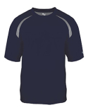 4150 Badger Adult Short-Sleeve Performance Tee with Heather Shoulder Inserts