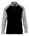 4197 Badger Men's Blend Colorblock Quarter-Zip Long-Sleeve Pullover