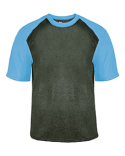 4341 Badger Adult Pro Heather Colorblock Short-Sleeve T-Shirt