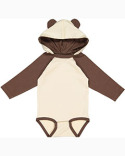 4418 Rabbit Skins Infant Long Sleeve Fine Jersey Bodysuit With Ears