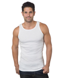4573 Bayside Men's 6.1 oz., 100% Ringspun Cotton 2x1 Ribbed Tank Top