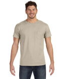 498P Hanes Adult 4.5 oz., 100% Ringspun Cotton nano-T® T-Shirt with Pocket
