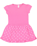 5323 Rabbit Skins Toddler Baby Rib Dress