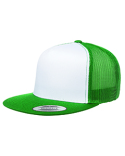 6006W Yupoong Classic Trucker with White Front Panel Snapback