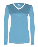 6164 Badger Ladies' Core Performance Dig Long-Sleeve Tee with Contrast Sleeve Panels