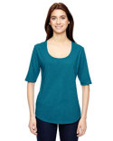 6756L Anvil Ladies' Triblend Deep Scoop 1/2-Sleeve T-Shirt