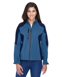 78077 Ash City - North End Ladies' Compass Colorblock Three-Layer Fleece Bonded Soft Shell Jacket