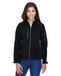 78077 North End Ladies' Compass Colorblock Three-Layer Fleece Bonded Soft Shell Jacket