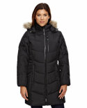78179 Ash City - North End Ladies' Boreal Down Jacket with Faux Fur Trim