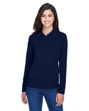 78192 Core 365 Ladies' Pinnacle Performance Long-Sleeve Piqué Polo