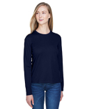 78199 Core 365 Ladies' Agility Performance Long-Sleeve Piqué Crewneck
