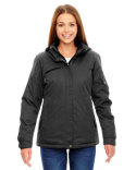 78209 Ash City - North End Ladies' Rivet Textured Twill Insulated Jacket