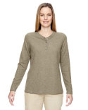 78221 Ash City - North End Ladies' Excursion Nomad Performance Waffle Henley