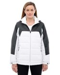 78232 Ash City - North End Ladies' Excursion Meridian Insulated Jacket with Mélange Print