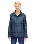 78671 Ash City - North End Ladies' Locale Lightweight City Plaid Jacket