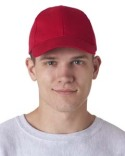 8110 UltraClub Adult Classic Cut Brushed Cotton Twill Structured Cap