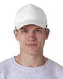 8120 UltraClub Adult Classic Cut Cotton Twill 5-Panel Cap
