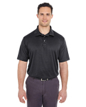 8220 UltraClub Men's Cool & Dry Jacquard Stripe Polo