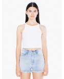 8369W American Apparel Ladies' Cotton Spandex Sleeveless Crop Top